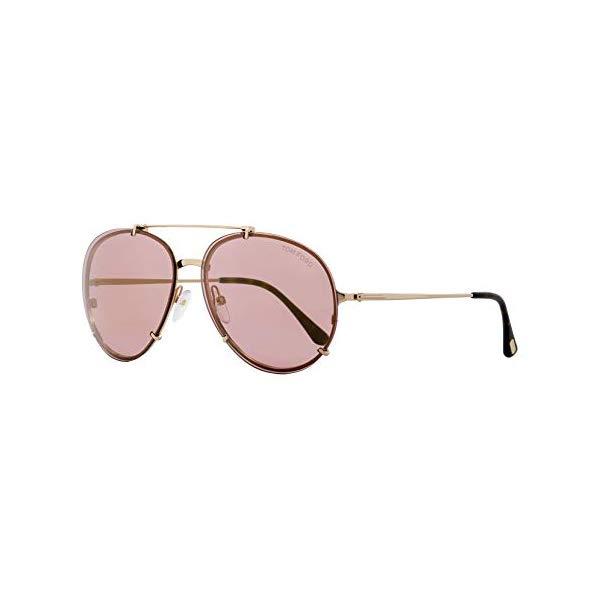 トムフォード S サングラス TOM FORD TF527 Dickon Tom Ford Womens Dickon Signature Adjustable Aviator Sunglasses Pink O/