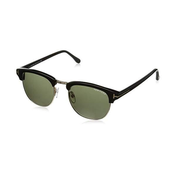 トムフォード サングラス TOM FORD FT0248 Tom Ford Sunglasses - Henry / Frame: Shiny Black with Green Gradient Lens