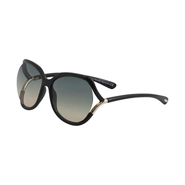 トムフォード サングラス TOM FORD FT0578E Tom Ford Sunglasses FT 0578 Anouk- 02 01W shiny black / gradient blue