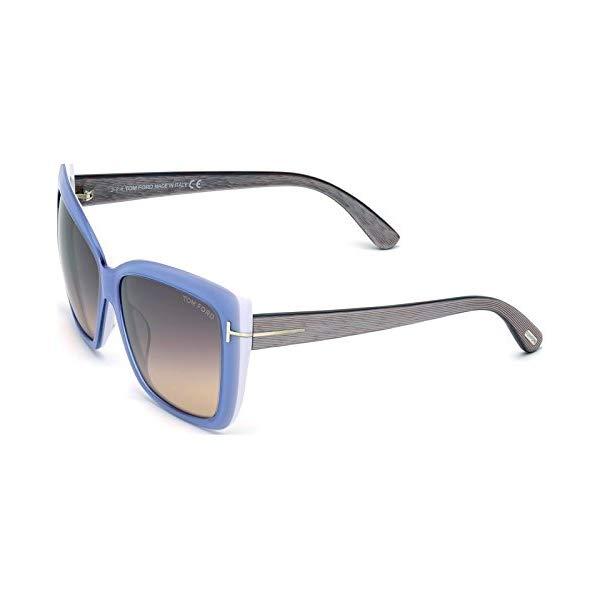 トムフォード サングラス TOM FORD FT0390 84Z Tom Ford Irina Sunglasses in Shiny Light Blue FT0390 84Z 59