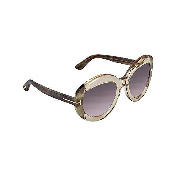 トムフォード サングラス TOM FORD FT0581 Tom Ford Sunglasses FT 0581 59B Yellow Transparent/Grey Gradient