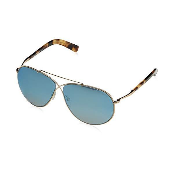 トムフォード サングラス TOM FORD FT0374 28X Tom Ford Women's Eva Aviator Sunglasses in Shiny Rose Gold Blue Mirror FT0374 28X 61