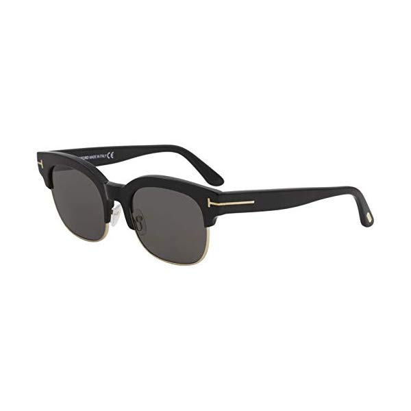 トムフォード サングラス TOM FORD FT0597 2018 Tom Ford Harry-02 FT0597 01D Men Black Polarized Clubmaster Square Sunglasses