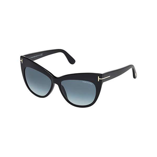 トムフォード サングラス TOM FORD FT0523 Tom Ford Sunglasses FT 0523 01W Shiny Black/Gradient blue