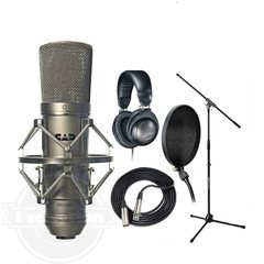 【CAD GXL2200 コンデンサーマイク Recording Pack Audio Technica ATHM20 Headphones Cables JamStands】