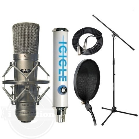 【CAD GXL2200 コンデンサーマイク USB Mic Set Cable JamStand Filter Blue Icicle】
