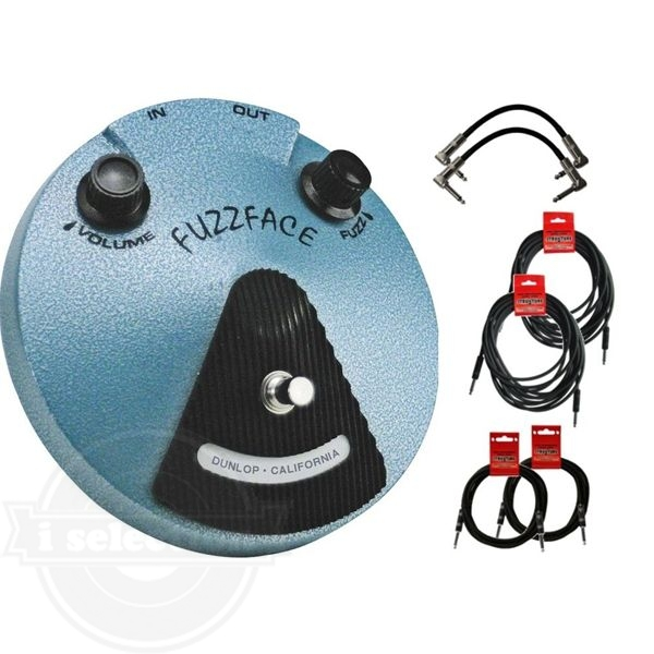 【Dunlop JHF1 Jimi Hendrix ジミヘン Fuzz Face ファズフェイス Pedal Bundle W/6 FREE Cables】