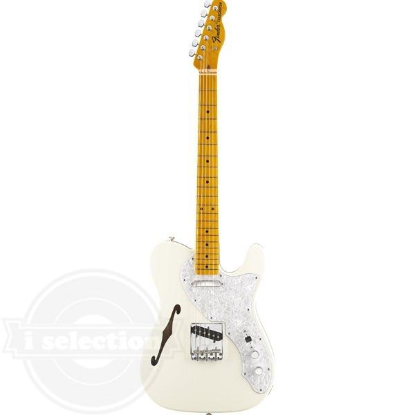 【フェンダー アメリカンビンテージ テレキャスター Fender American Vintage '69 Telecaster Thinline Electric Guitar Maple Fretboard Olympic White】