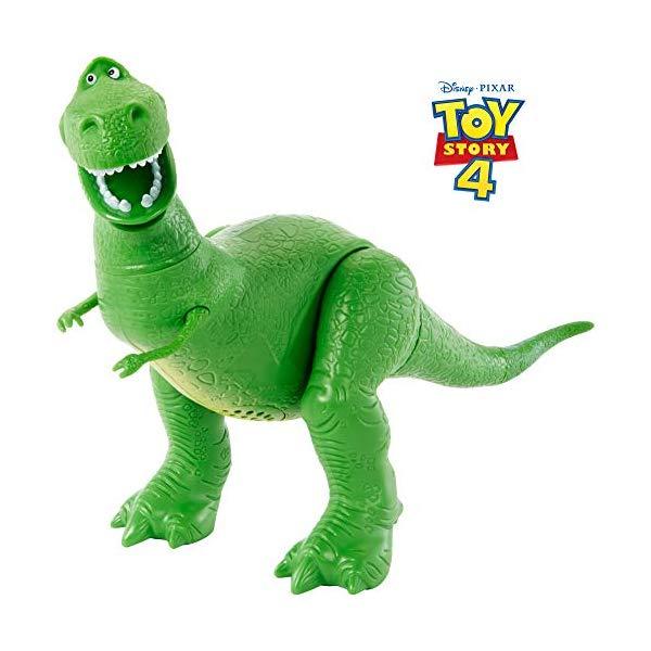 トイストーリー4 レック アクション フィギュア 人形 おもちゃ 音が鳴る しゃべる 英語 Disney Pixar Toy Story True Talkers Rex Figure, 7.8