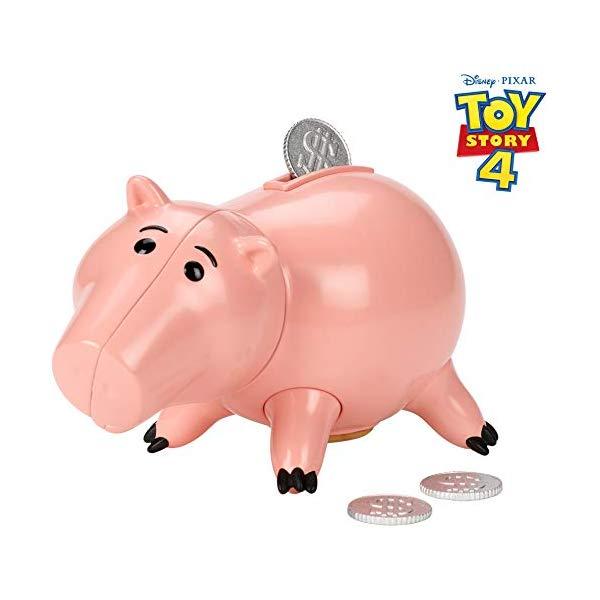 トイストーリー4 ハム フィギュア ドール 人形 おもちゃ グッズ Disney Pixar Toy Story Hamm Figure, 3.5