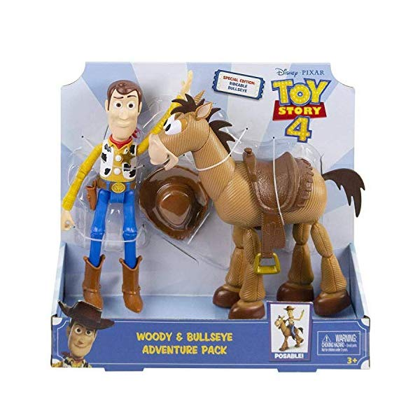トイストーリー4 ウッディ ブルズアイ スペシャルエディション フィギュア ドール 人形 おもちゃ グッズ Toy Story 4 - Woody & Bullseye Adventure Pack - Re-Create The Movie Magic with This Special Edition Duo Pack!