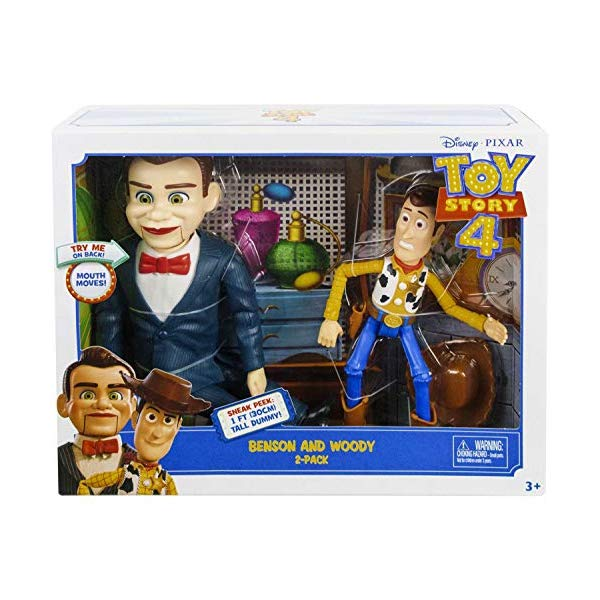 トイストーリー4 ウッディ ベンソン フィギュア 人形 ドール おもちゃ グッズ Pixar Disney Toy Story Benson and Woody Figure 2-Pack