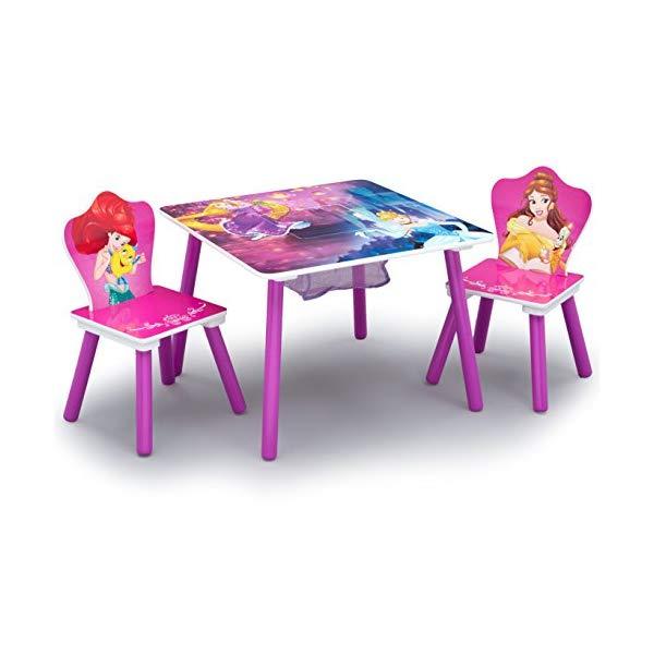 ディズニープリンセス デルタ キッズ テーブル チェア セット チャイルド 机 椅子 子供用 デスクセット 勉強机 Delta Children Kids Chair Set and Table (2 Chairs Included), Disney Princess