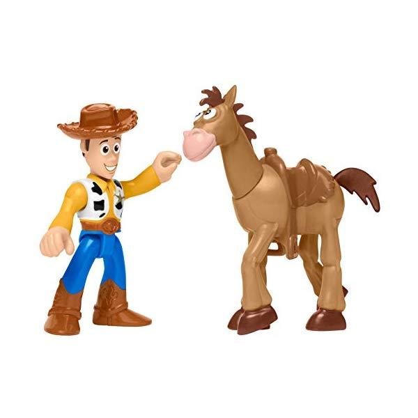 トイストーリー4 ウッディ ブルズアイ 人形 フィギュア ドール おもちゃ グッズ Fisher-Price Imaginext Toy Story Woody & Bullseye