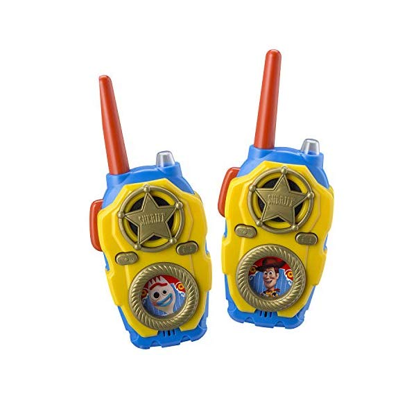 トイストーリー4 ウォーキートーキー トランシーバー おもちゃ グッズ eKids Toy Story 4 FRS Walkie Talkies with Lights and Sounds Kid Friendly Easy to Use