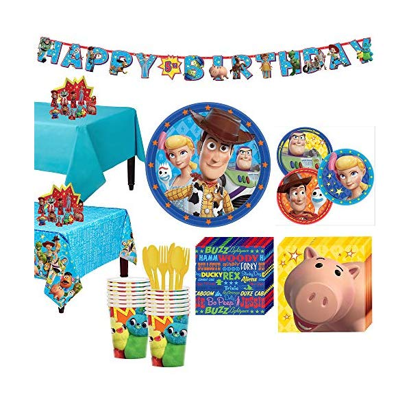 トイストーリー4 パーティーセット パーティーグッズ おもちゃ グッズ Party City Toy Story 4 Tableware Party Supplies for 16 Guests, 145 Pieces, Includes Tableware and Decorations