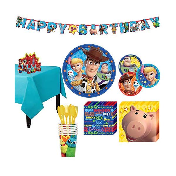 トイストーリー4 パーティーセット パーティーグッズ おもちゃ グッズ Party City Toy Story 4 Tableware Party Supplies for 8 Guests, 105 Pieces, Includes Tableware and Decorations