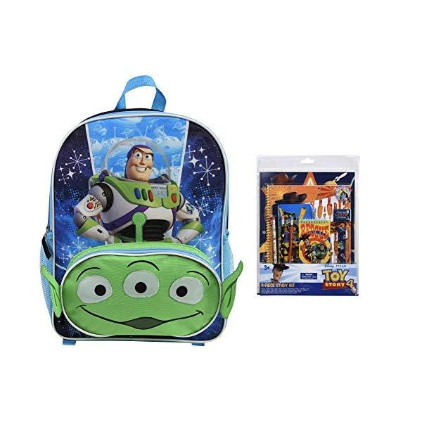 トイストーリー4 バズ・ライトイヤー エイリアン リュックサック バックパック かばん バッグ おもちゃ グッズ Toy Story 4 Buzz & Alien Backpack PLUS 11 Piece Stationery Set