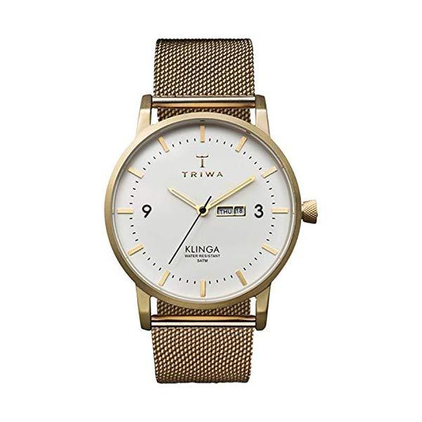トリワ TRIWA 腕時計 ユニセックス 男女兼用 KLST103ME ウォッチ 北欧デザイン スウェーデン Triwa klinga Unisex Analog Japanese Quartz Watch with Stainless Steel Gold Plated Bracelet KLST103ME