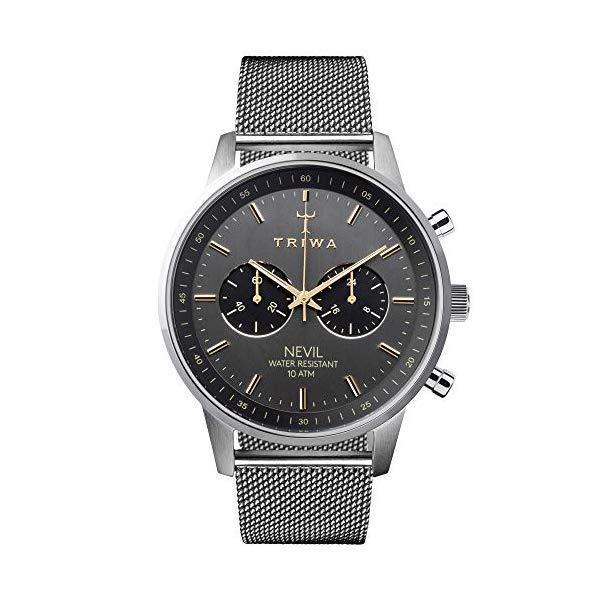 トリワ TRIWA 腕時計 メンズ 男性用 NEST114-ME021212 ウォッチ 北欧デザイン スウェーデン TRIWA Nevil Men's Minimalist Watch Chronograph Wrist Watches for Men, 42mm