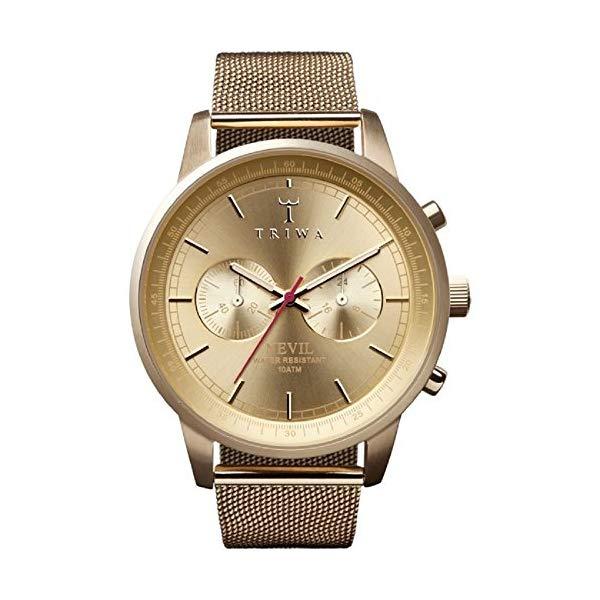 トリワ TRIWA 腕時計 メンズ 男性用 NEST104 ME021313 ウォッチ 北欧デザイン スウェーデン Triwa Nevil Goldtone Men's Chronograph Mesh Band Watch NEST104 ME021313