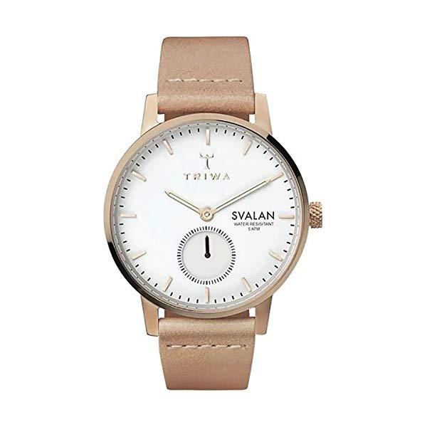トリワ TRIWA 腕時計 レディース 女性用 ウォッチ 北欧デザイン スウェーデン Triwa Svalan Watch Women's Rose Svalan/Tan Classic Super Slim, One Size