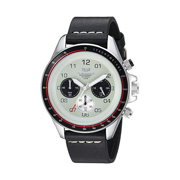 ベスタル 腕時計 VESTAL ZR243L03.BKWH Vestal ZR2 Leather Stainless Steel Japanese-Quartz Watch with Strap, Black, 20 (Model: ZR243L03.BKWH