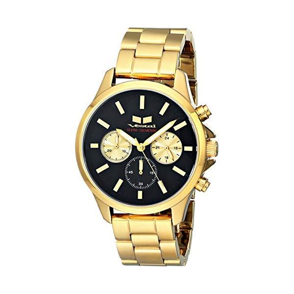 ベスタル 腕時計 VESTAL HEI3CM01 ユニセックス 男女兼用 Vestal Unisex HEI3CM01 Heirloom Chrono Analog Display Analog Quartz Gold Watch
