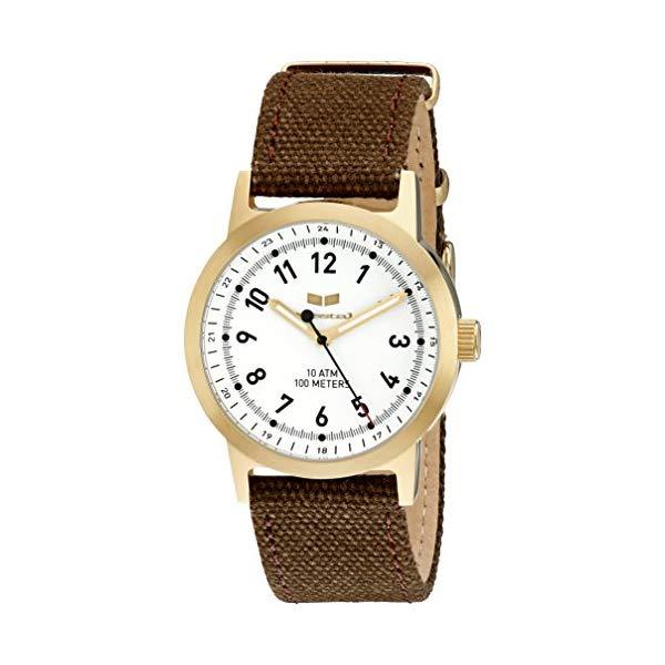 ベスタル 腕時計 VESTAL ABC3C04 ユニセックス 男女兼用 Vestal Unisex ABC3C01 Alpha Bravo Stainless Steel Watch with Canvas Band