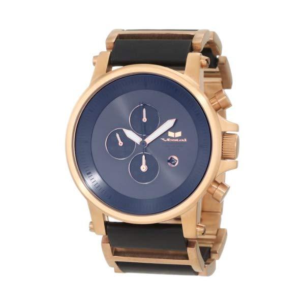 ベスタル 腕時計 公式サイト VESTAL 無料 PLE035 メンズ 男性用 Vestal Men's Leather Watch Plexi Ion-Plated Case Black PLE030