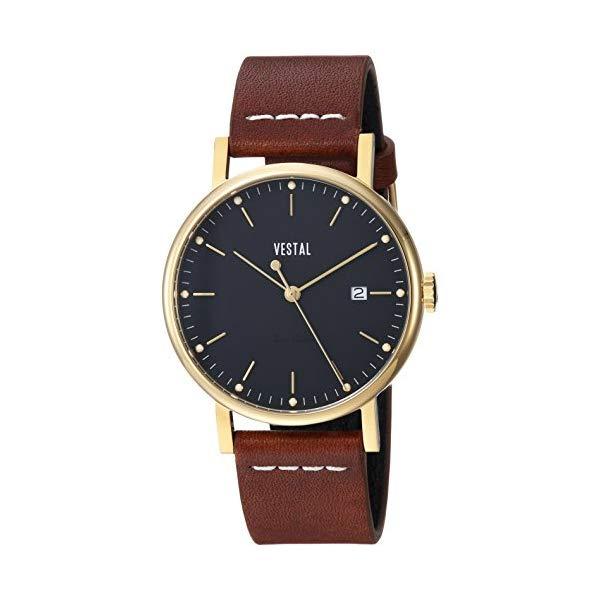 ベスタル 腕時計 VESTAL SP36L02.LBWH Vestal Sophisticate 36 Stainless Steel Swiss-Quartz Watch with Leather Strap, Brown, 18 (Model: SP36L02.LBWH)