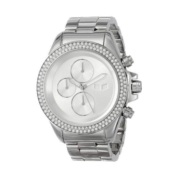 ベスタル 腕時計 VESTAL ZR2018 ユニセックス 男女兼用 Vestal Unisex ZR2001 ZR-2 Minimalist Polished Silver Chronograph Watch
