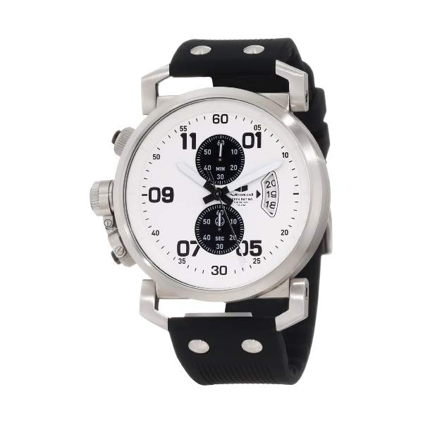 ベスタル 腕時計 VESTAL OBCS004 メンズ 男性用 Vestal Men's OBCS001 USS Observer Chrono Black White Lume Watch