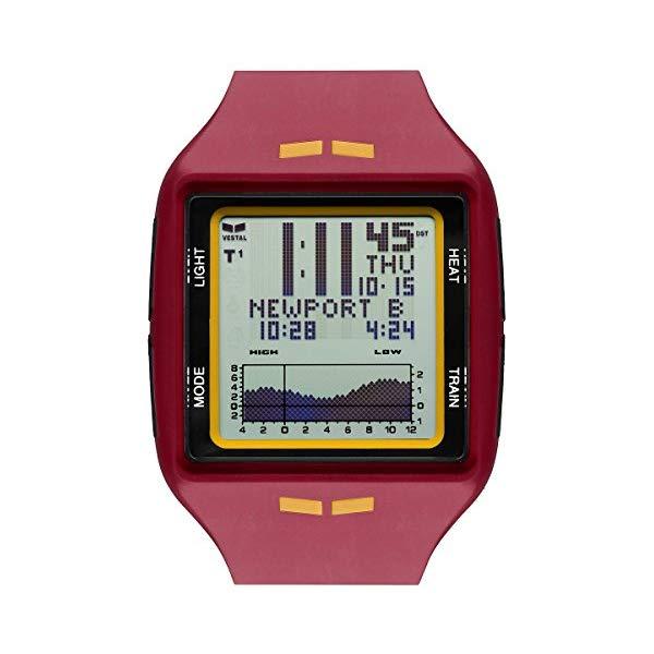 ベスタル 腕時計 VESTAL BRG040 Vestal BRG040.P BRIG Tide & Train Burgundy/Gold Positive LCD Watch