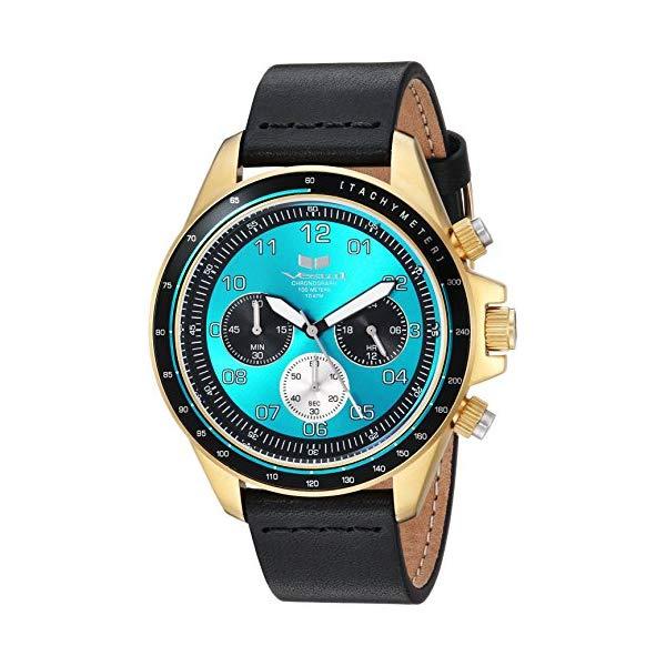 ベスタル 腕時計 VESTAL ZR243L23.BK Vestal ZR2 Leather Stainless Steel Japanese-Quartz Watch with Strap, Black, 20 (Model: ZR243L23.BK)