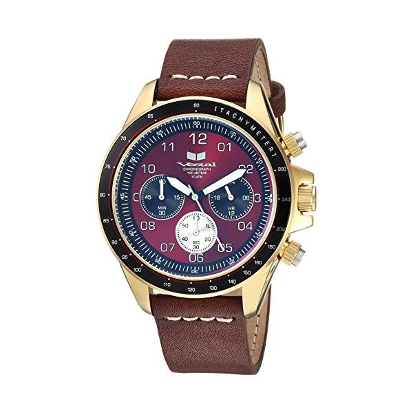 ベスタル 腕時計 VESTAL ZR243L21.BRWH Vestal ZR2 Leather Stainless Steel Japanese-Quartz Watch with Strap, Brown, 19.7 (Model: ZR243L21.BRWH)