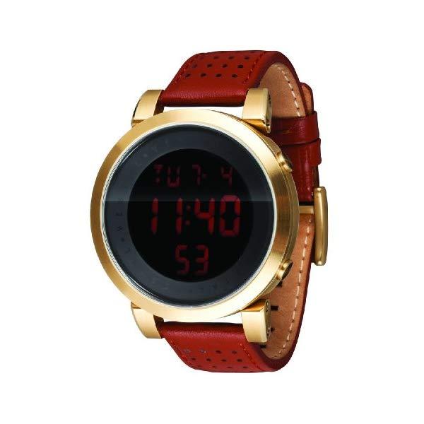 ベスタル 腕時計 VESTAL DDL003 メンズ 男性用 Vestal Men's DDL001 Digital Doppler All Black Leather Watch