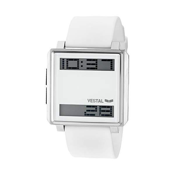 ベスタル 腕時計 VESTAL TRADR05 メンズ 男性用 Vestal Men's TRADR05 Transom Digital Display Japanese Quartz White Watch