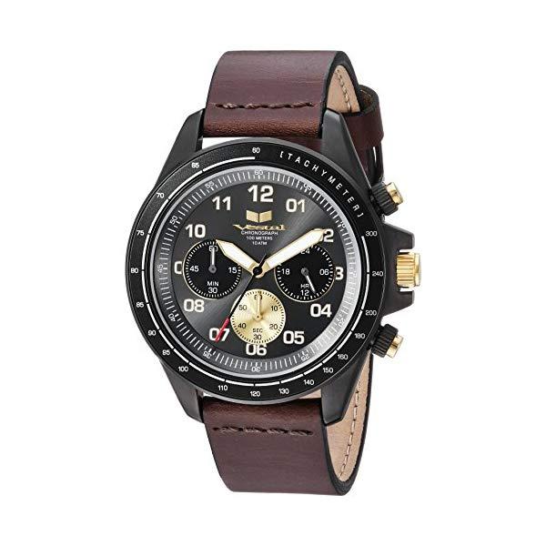 ベスタル 腕時計 VESTAL ZR243L27.DB Vestal ZR2 Leather Stainless Steel J