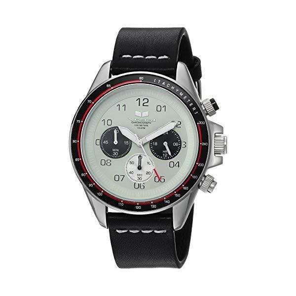 ベスタル 腕時計 VESTAL ZR2CL03 Vestal ZR2 Stainless Steel Japanese-Quartz Watch with Leather Calfskin Strap, Black, 20 (Model: ZR2CL03)