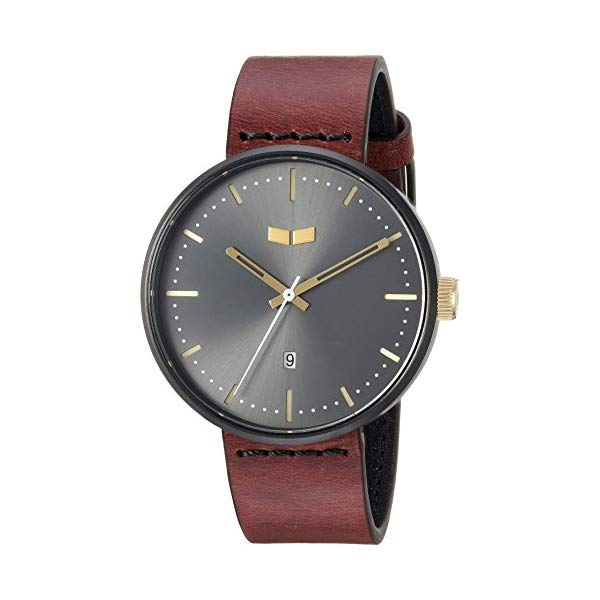 ベスタル 腕時計 VESTAL RS42L09 Vestal Roosevelt Italian Leather Stainless Steel Quartz Watch with Calfskin Strap, Brown, 20 (Model: RS42L09.CVBK