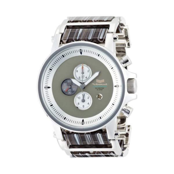 ベスタル 腕時計 VESTAL PLA012 ユニセックス 男女兼用 Vestal Unisex PLA012 Plexi Acetate Silver and Gray Watch
