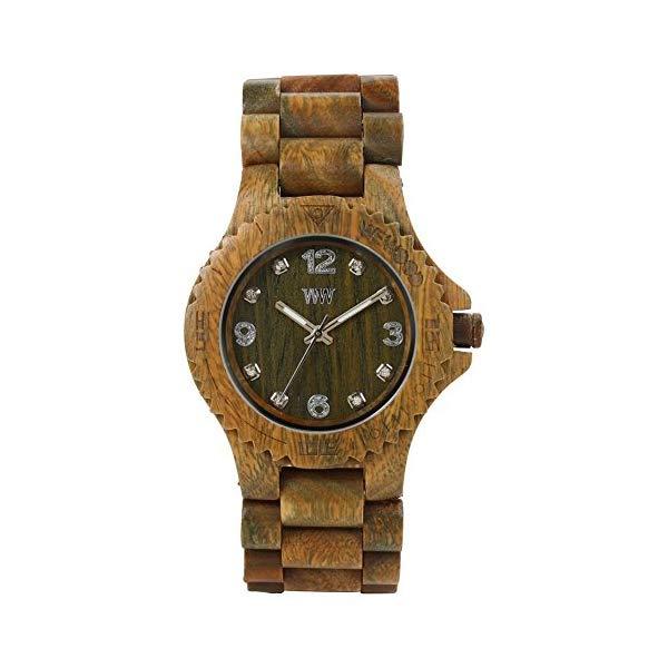 ウィーウッド 腕時計 WEWOOD ウッドウォッチ 木製腕時計 ユニセックス 男女兼用 WeWood Deneb Guaiaco Wood Watch Army