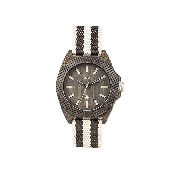 ウィーウッド 腕時計 WEWOOD ウッドウォッチ 木製腕時計 WW54001 WeWood Phoenix Cotton Fiber Wood Watch   Wenge Grey WPH38WG
