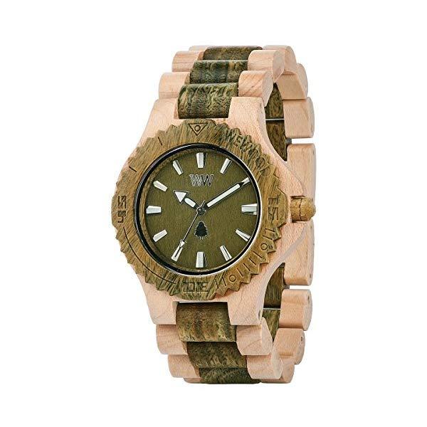 ウィーウッド 腕時計 WEWOOD ウッドウォッチ 木製腕時計 DATE BEIGE ARMY Wewood Men's Date Beige/Army Wooden Watch