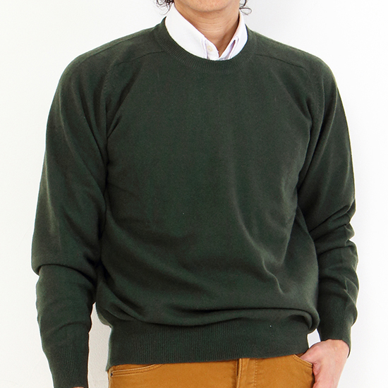 Cashmere 100% color,limited Green cashmere sweater men M,LL 2310 knit  cashmere sweater comfort ギフ _ packing cashmere 100% examination judgment