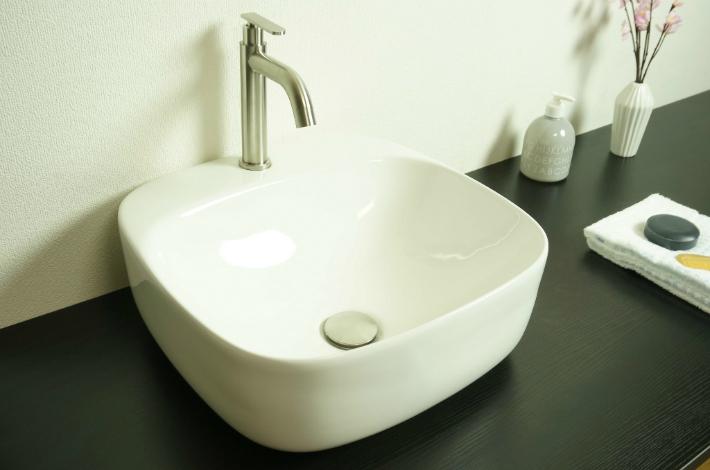 【洗面器 T163B-T】お買得4点セット/洗面ボウル+単水栓+排水栓+選べる排水トラップ(S床/P壁)送料無料!!