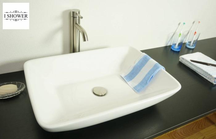 【洗面器 8184】お買得4点セット/洗面ボウル+水栓(蛇口)+排水栓+選べる排水トラップ(S床/P壁)