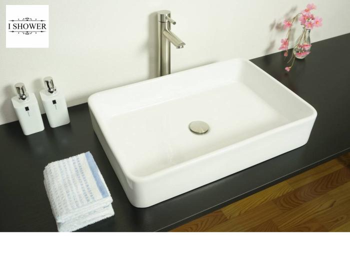 【洗面器 3085】お買得4点セット/洗面ボウル+水栓(蛇口)+排水栓+選べる排水トラップ(S床/P壁)