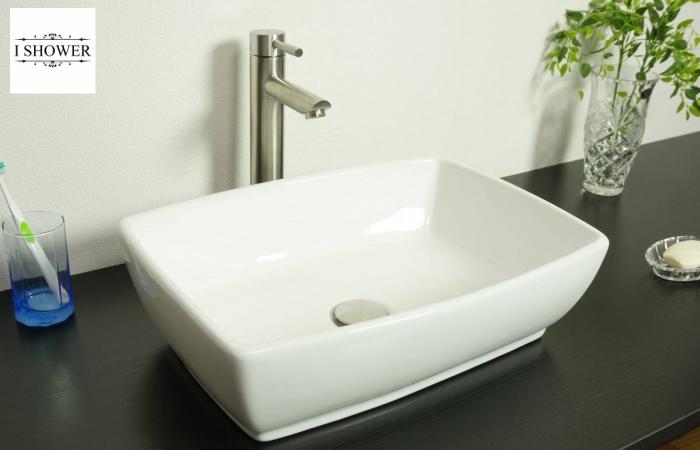 【洗面器 8240A】お買得3点セット/洗面ボウル+排水栓+選べる排水トラップ(S床/P壁)